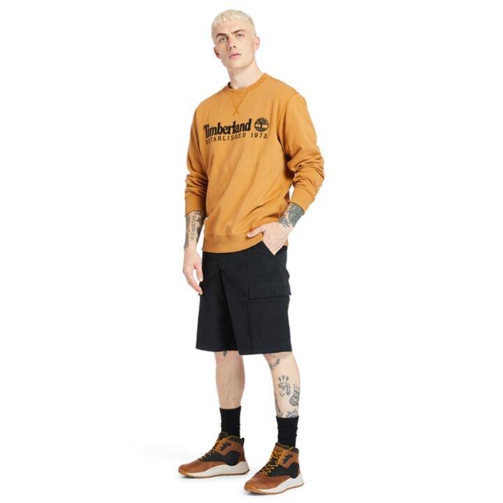 Outdoor Heritage Koyu Sarı Bisiklet Yaka Erkek Sweatshirt