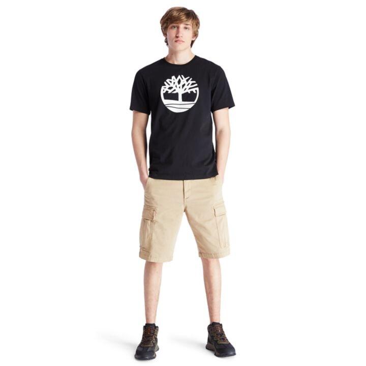 Kennebec River Tree Logo Ağaç Logolu Siyah Erkek T-Shirt