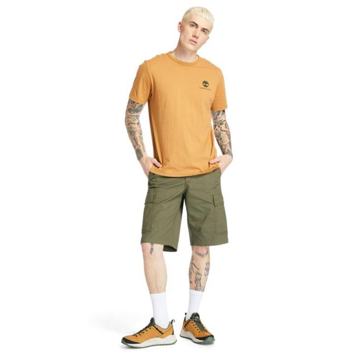 Archive-Print Sarı Erkek T-shirt