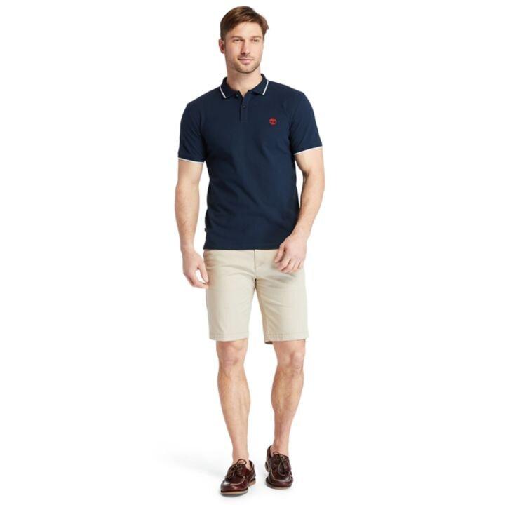 Millers River Erkek Lacivert Çigili Polo Yaka T-Shirt