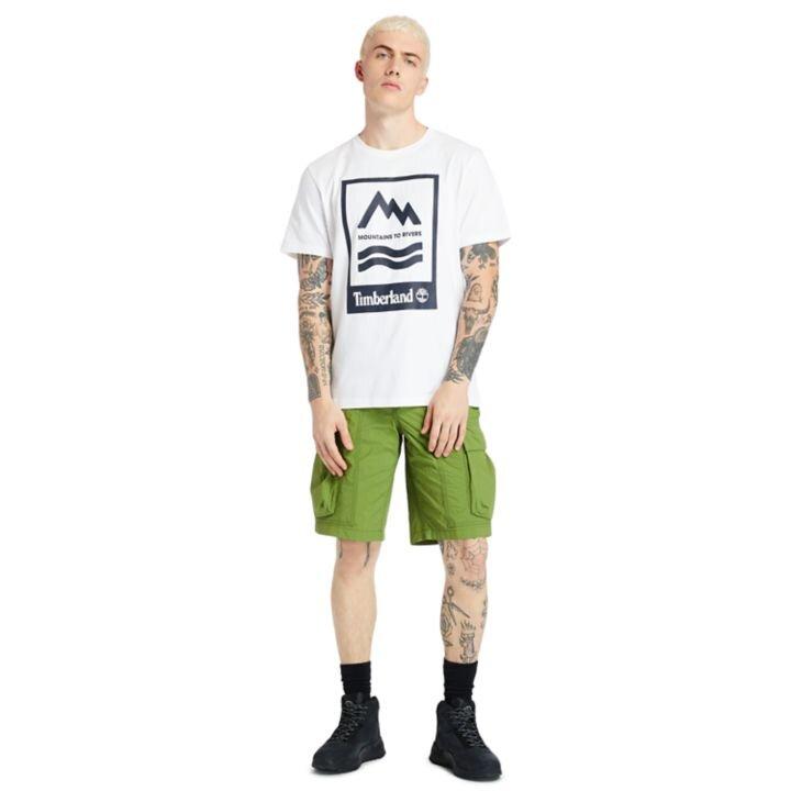 Mountain-to-River Beyaz Erkek T-shirt