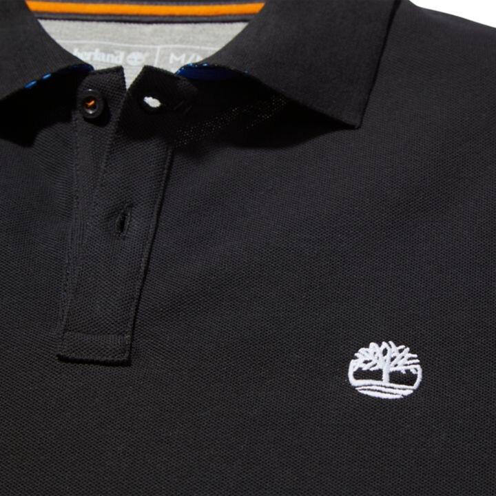 Millers River Siyah Erkek Polo Yaka T-Shirt