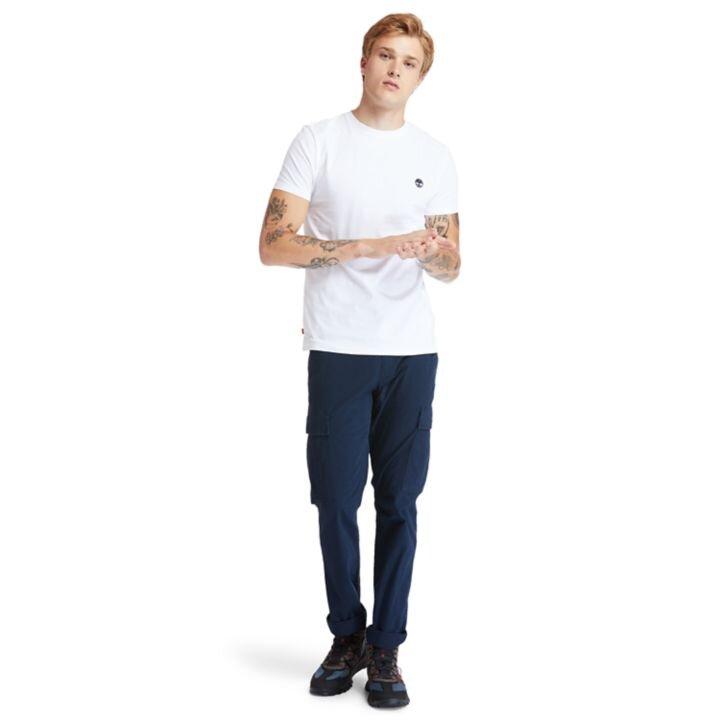 Dunstan River Sıfır Yaka Beyaz Erkek T-Shirt