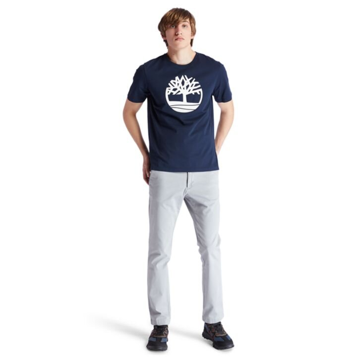 Kennebec River Tree Logo Ağaç Logolu Lacivert Erkek T-Shirt