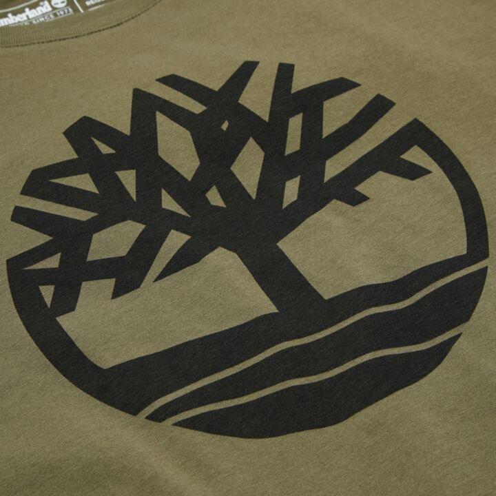 Kennebec River Tree Logo Ağaç Logolu Koyu Yeşil Erkek T-Shirt
