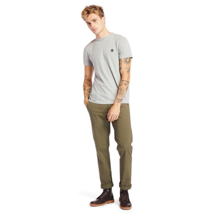 Dunstan River Sıfır Yaka Gri Erkek T-Shirt