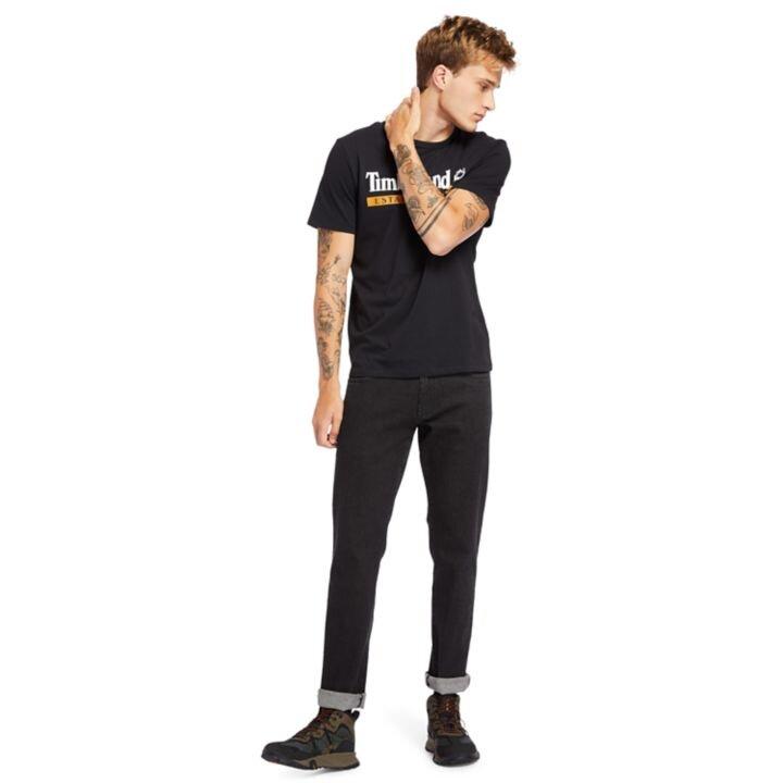 Established 1973 Siyah Erkek T-Shirt