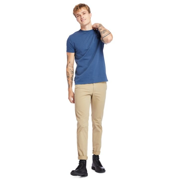 Dunstan River Sıfır Yaka Lacivert Erkek T-Shirt