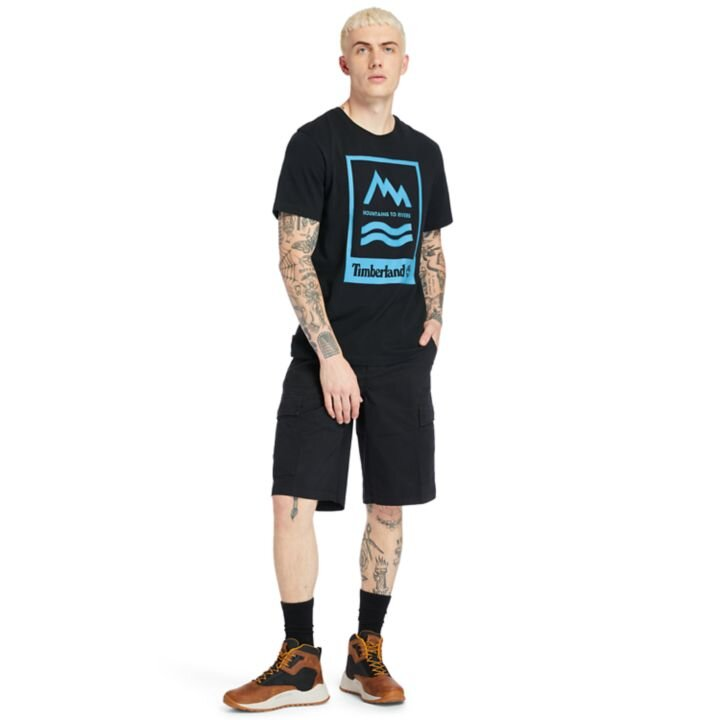 Mountain-to-River Siyah Erkek T-shirt