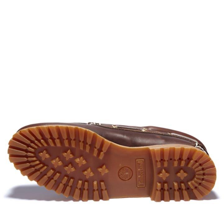 Authentic 3-Eye Kahverengi Erkek Tekne Ayakkabısı