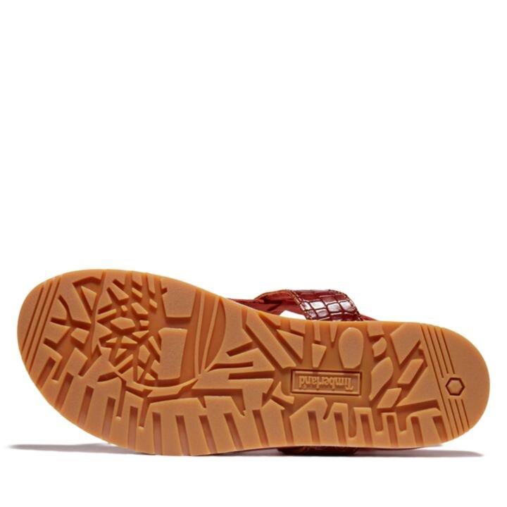 Malibu Waves Timsah Derisi Desenli Kadın Sandalet