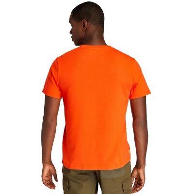 Kennebec River Ağaç Logolu Turuncu Erkek T-shirt