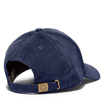 Pamuklu - Pamuklu Fitilli Kadife Mavi Erkek Beyzbol Şapkası