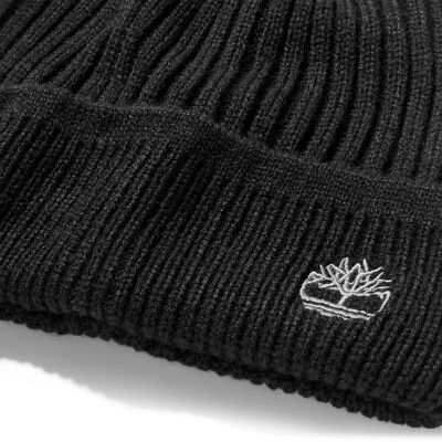 Fitilli Örgü Siyah Erkek Şapka