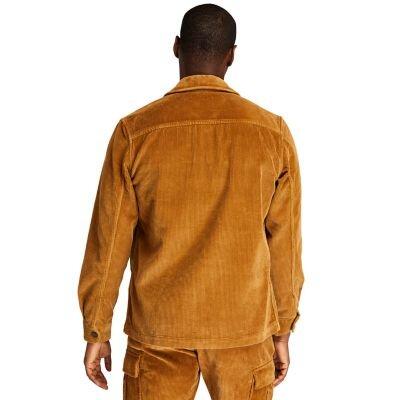 Corduroy Kahverengi Erkek Fermuarlı Overshirt Gömlek