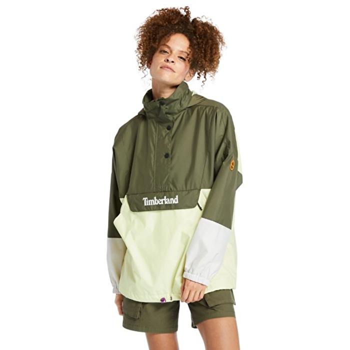 Yeşil Renkli Katlanabilir Kadın Yağmurluk