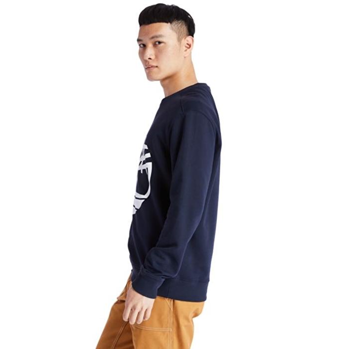 Core Ağaç Logolu Lacivert Erkek Sweatshirt