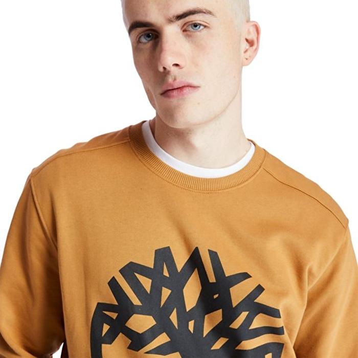 Core Ağaç Logolu Sarı Erkek Sweatshirt