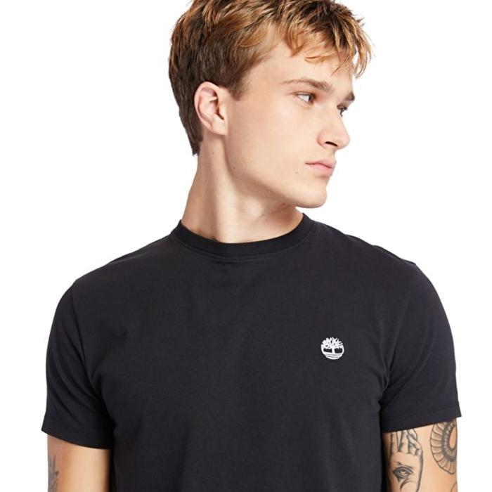 Dunstan River Sıfır Yaka Siyah Erkek T-Shirt