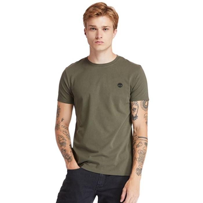 Dunstan River Sıfır Yaka Koyu Yeşil Erkek T-Shirt