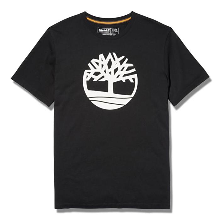 Kennebec River Ağaç Logolu Siyah Erkek T-Shirt