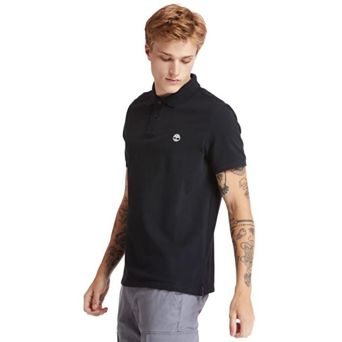 Millers River Organik Pamuklu Siyah Polo Yaka T-shirt