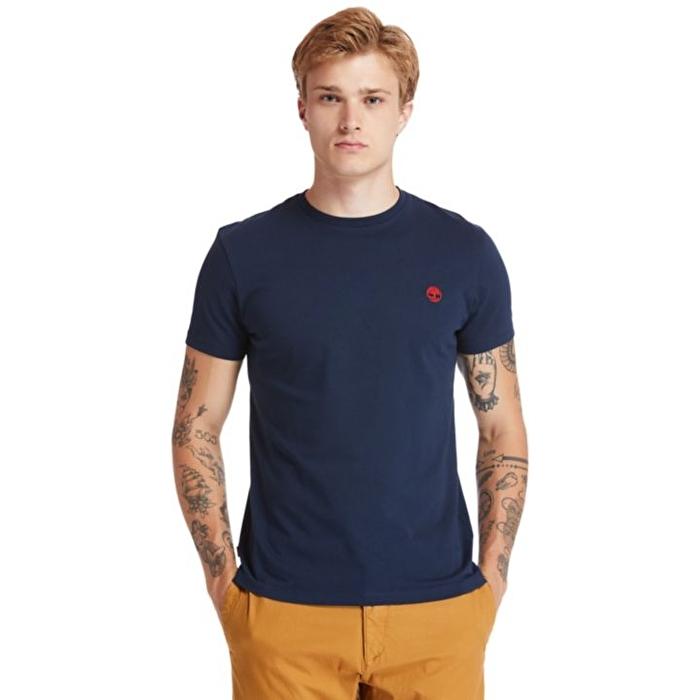 Dunstan River Bisiklet Yaka Koyu Mavi Erkek T-Shirt