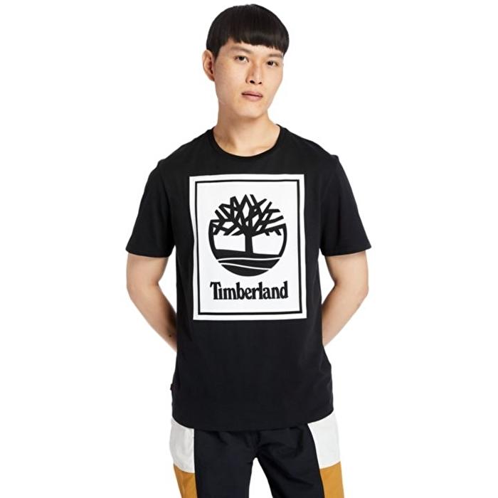 Logolu Siyah Erkek T-Shirt