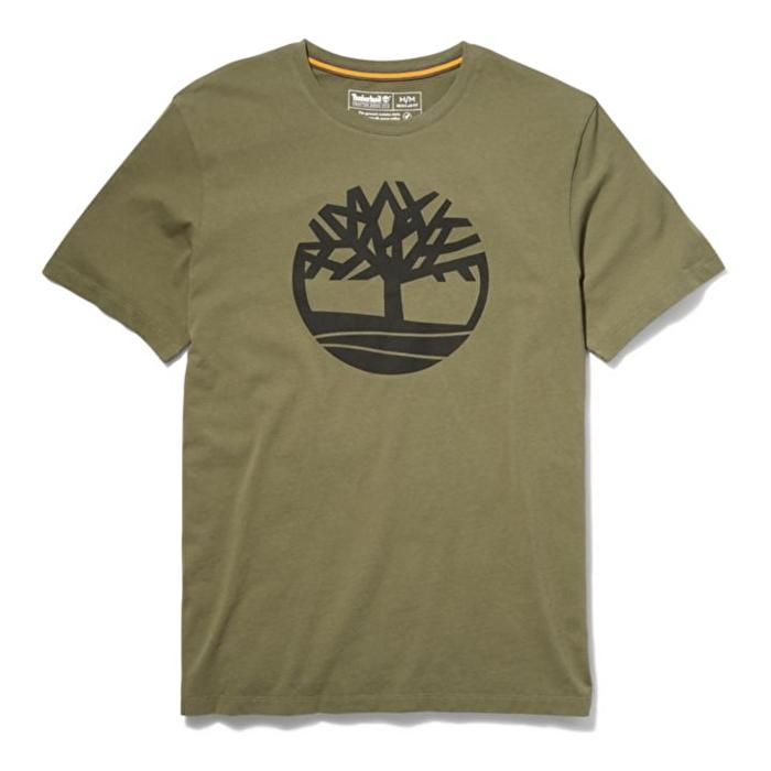 Kennebec River Ağaç Logolu Koyu Yeşil Erkek T-Shirt