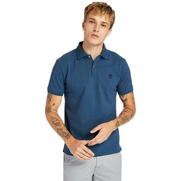 Millers River Mavi Erkek Polo Yaka T-Shirt