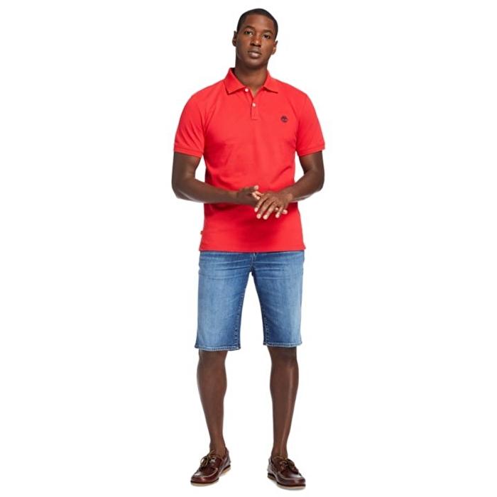 Millers River Kırmızı Erkek Polo Yaka T-Shirt