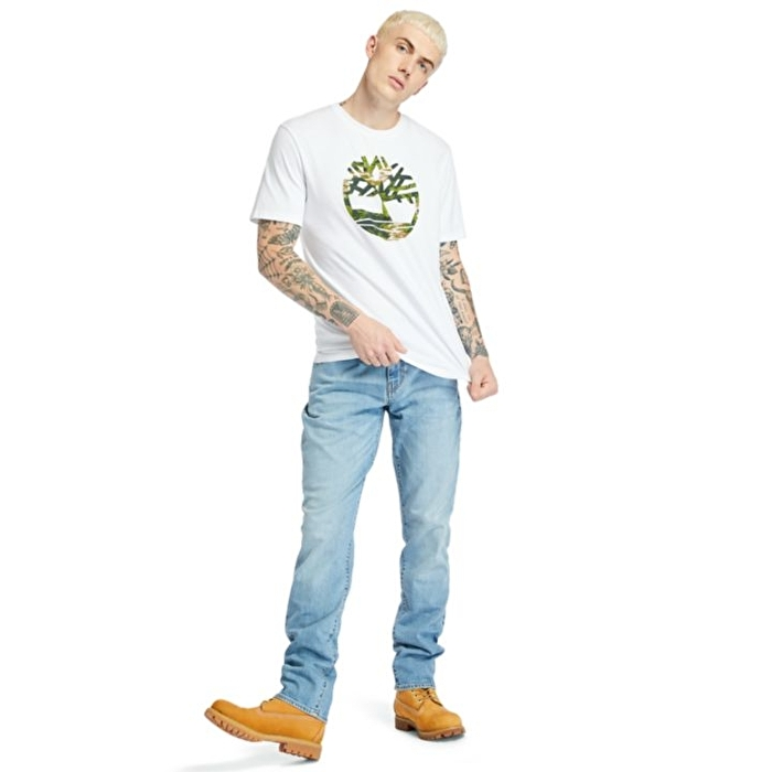 Kennebec River Beyaz Erkek T-shirt