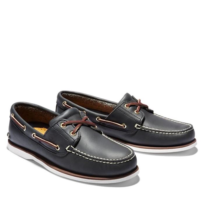 Klasik Mavi Erkek Tekne Ayakkabısı