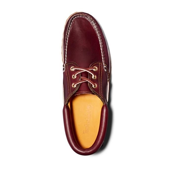 Authentic 3-Eye Bordo Tabanlı Klasik Erkek Tekne Ayakkabısı