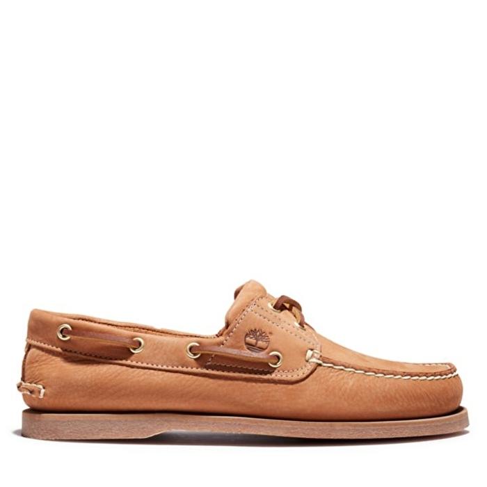 Bej Erkek Klasik Tekne Ayakkabısı