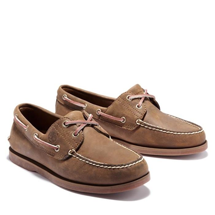 Kahverengi Erkek Klasik Tekne Ayakkabısı