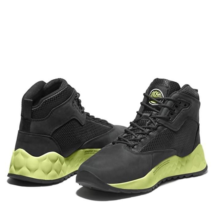 Solar Wave Siyah/Yeşil Bilekli Erkek Yürüyüş Ayakkabısı