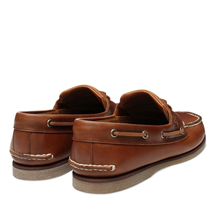 Açık Kahverengi Erkek Sırçalı Deri Klasik Tekne Ayakkabısı