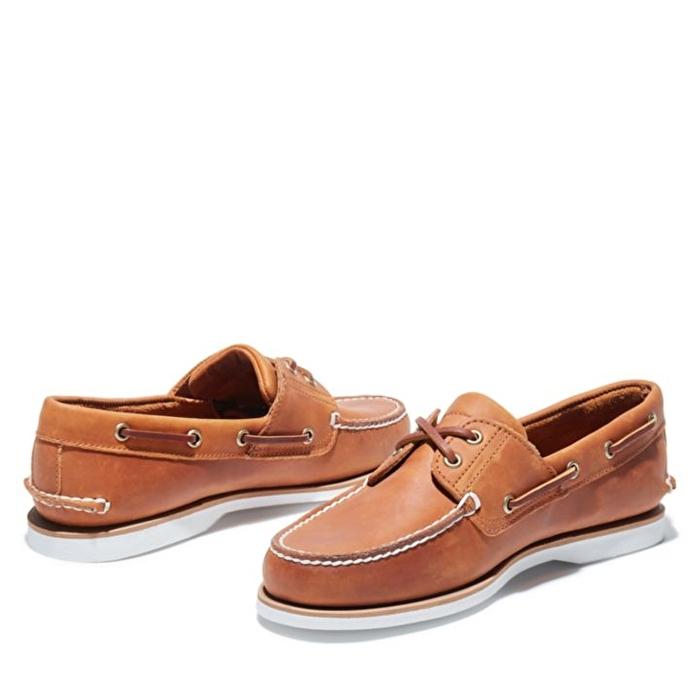 Turuncu Erkek Klasik Tekne Ayakkabısı