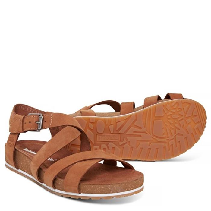 Malibu Waves Kahverengi Bilekten Bağlamalı Kadın Sandalet