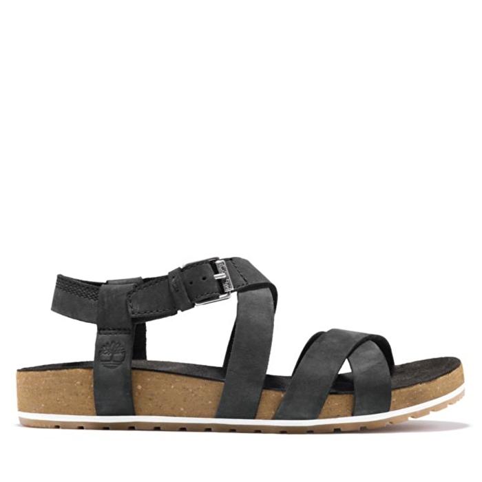 Malibu Waves Siyah Bilekten Bağlamalı Kadın Sandalet