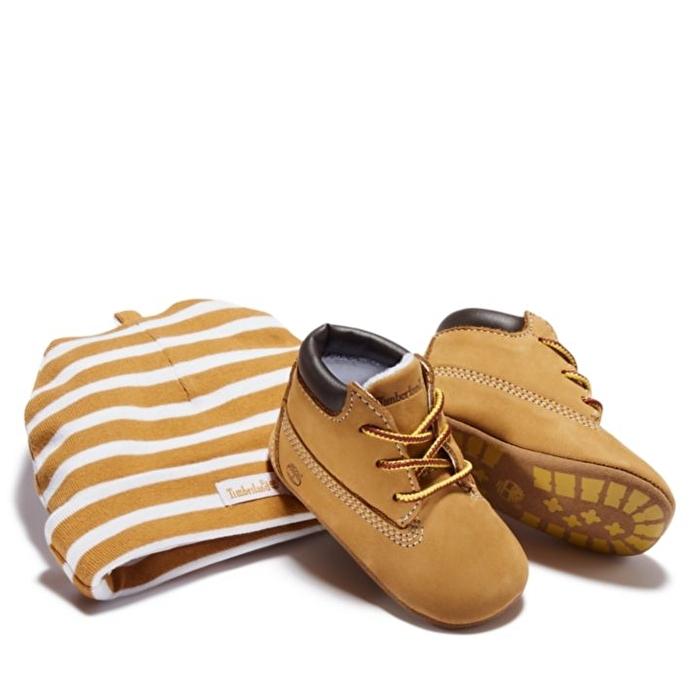 Crib Sarı Bebek Bot ve Şapka Seti