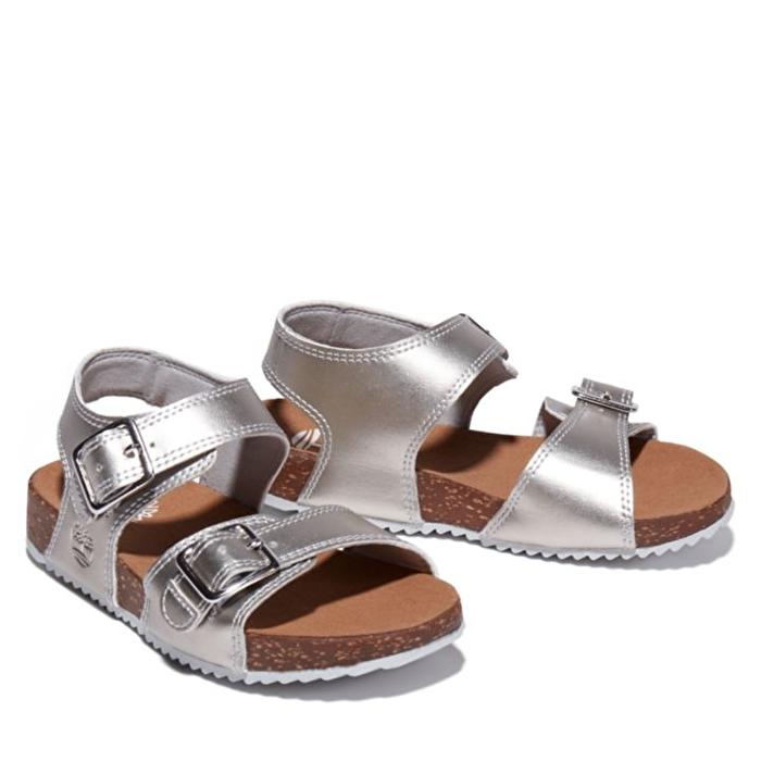 Castle Island Gümüş Arka Kayışlı Çocuk Sandaleti