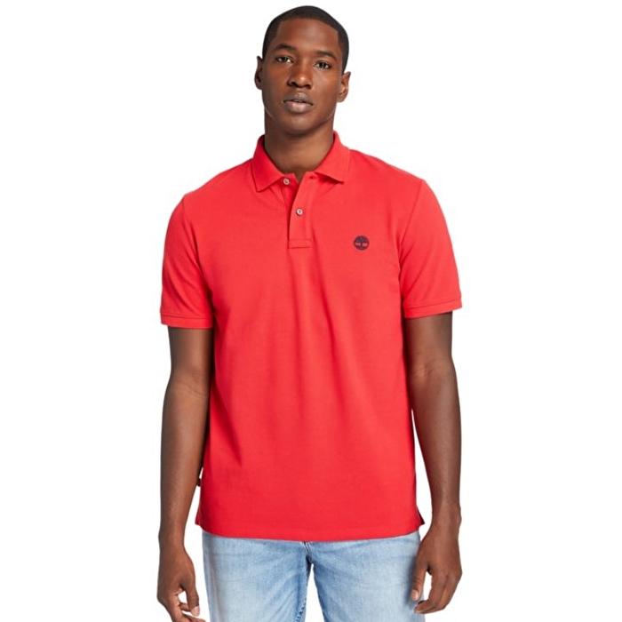 Millers River Organik Pamuklu Kırmızı Polo Yaka T-shirt