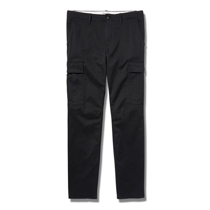 Core Twill Siyah Erkek Kargo Pantolon