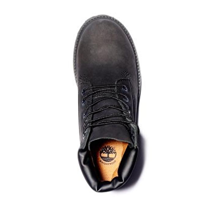 6 inch Premium Siyah Çocuk Botu