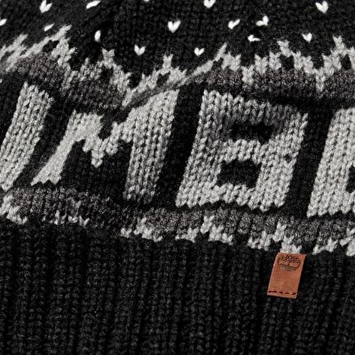Örgü Logolu Siyah Erkek Kışlık Şapka