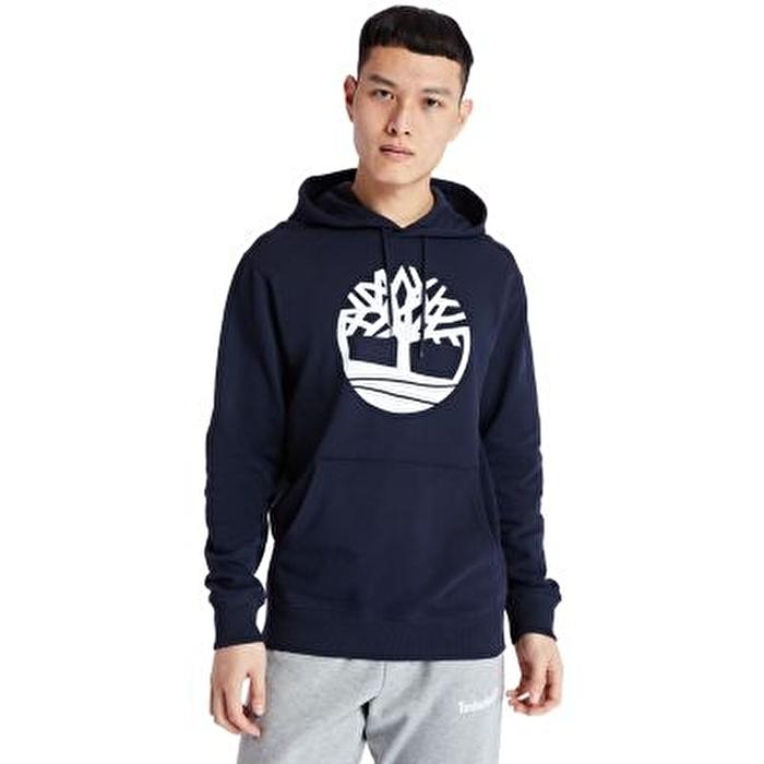 Core Tree Logo Ağaç Logolu Lacivert Erkek Kapüşonlu Hoodie