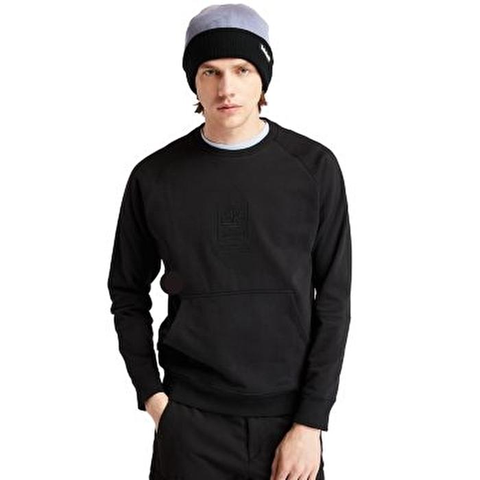 Heavyweight Crewneck Logo Siyah Erkek Sweatshirt