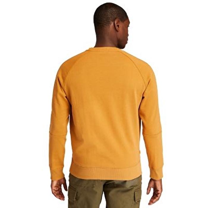 Heavyweight Crewneck Logo Sarı Erkek Sweatshirt